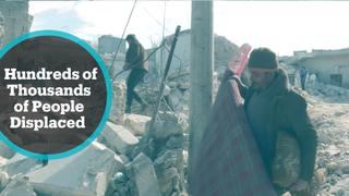 Syrian regime keeps bombardment while 800,000 already displaced