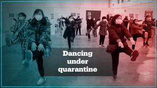 Chinese coronavirus patients dance in quarantine units to break daily routine