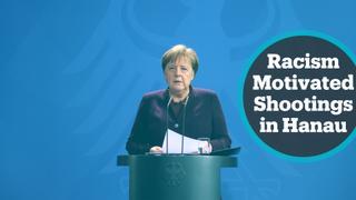 Angela Merkel reacts to deadly shooting in Hanau