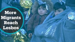 More boats carrying refugees reach Greek island of Lesbos