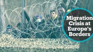 EU leaders visit Greek border to discuss migrant crisis