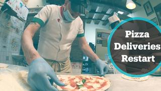 Pizza deliveries restart in Naples after ban lifted