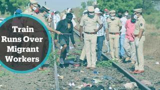 Workers in India killed by train as they slept on tracks