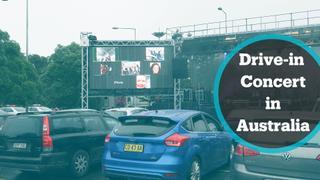 Live music revs up again as Australians enjoy first drive-in concert