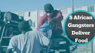 South African gangsters deliver food to poor