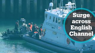 Authorities struggling with migrant surge across English Channel