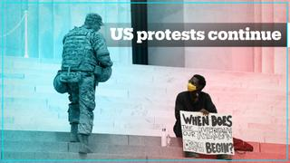 US protests continue, but stay mostly peaceful
