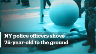 Two NY police officers shove an elderly man to the ground