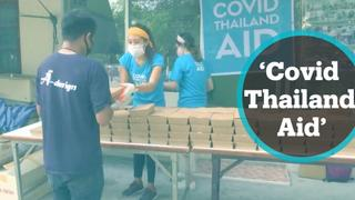 Covid Thailand Aid is distributing food to people in need