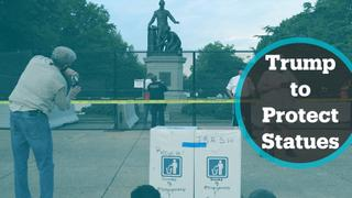 Trump signs order to prosecute protesters vandalising statues