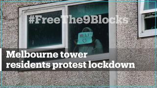 Residents protest Melbourne public housing lockdown