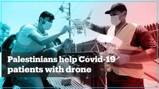 Palestinians deliver aid to Covid-19 patients with drones