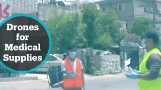 Drones deliver supplies to Covid-19 patients in occupied West Bank