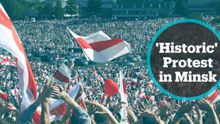 More than 100,000 Belarusians take part in anti-govt rally