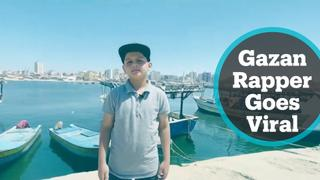 Young rapper from Gaza shares his talent and goes viral