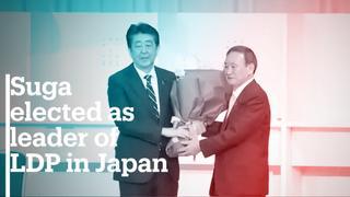 Japan's Yoshihide Suga wins party leadership race
