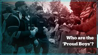 Who are the 'Proud Boys' that Trump mentioned?