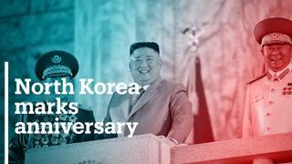 North Korea marks anniversary with ICBM display