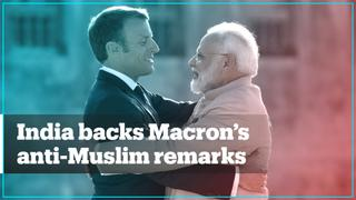 Hashtags supporting Macron, France trend in India