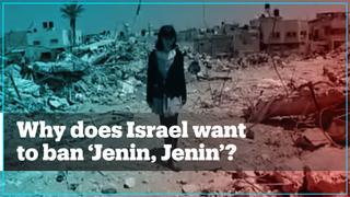 Why does Israel want to ban the documentary 'Jenin, Jenin'?