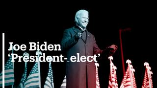 Joe Biden 46th US president-elect of the United States