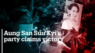 Aung San Suu Kyi's ruling party claims landslide victory