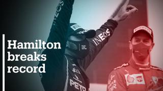 Hamilton equals record at Istanbul Park