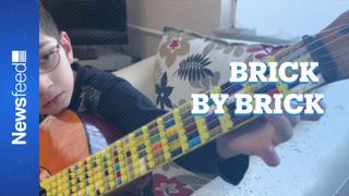 A lego guitar....like you've never seen one!
