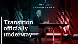 Agency designates Biden as winner, releases transition funds