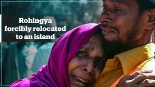 Rohingya refugees forcibly relocated to flood-prone Bangladeshi island