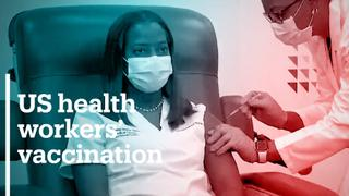 US health workers start getting Covid-19 vaccine