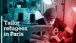 Refugees become tailors in Paris