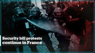 Protests against national security bill continue in France