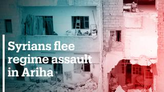 Syrians flee regime assault on Ariha
