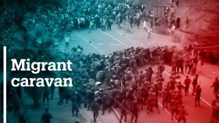Guatemala police fire tear gas to stop Hondurans migrants