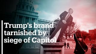 Donald Trump's brand tarnished by the siege of Capitol Hill