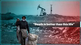 Searching through trash to survive in northeastern Syria
