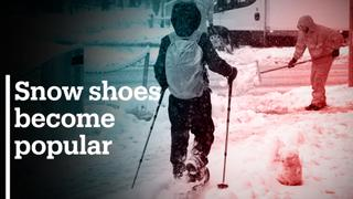 Snow shoes get popular as ski resorts stay closed in Europe