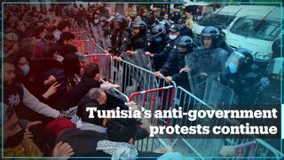 Anti-government protests continue in Tunisia