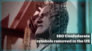 Over 160 confederate symbols removed across the US in 2020
