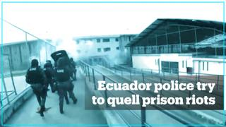 Dramatic footage shows Ecuador police trying to subdue prison riots