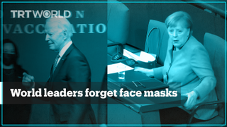 US president, German chancellor realise they forgot to wear a mask