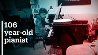 French musician has been playing piano for over a century