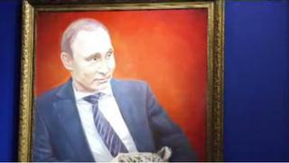 Super Putin Exhibition: Images depicting Putin as a hero go on display
