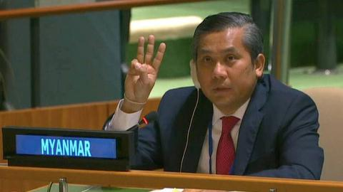 Envoy, junta make rival claims over Myanmar's UN seat