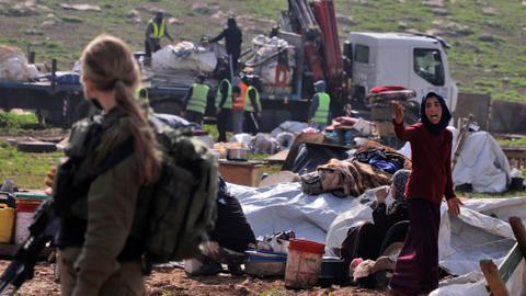 UN calls Israel's demolition of a Palestinian village 'unlawful'