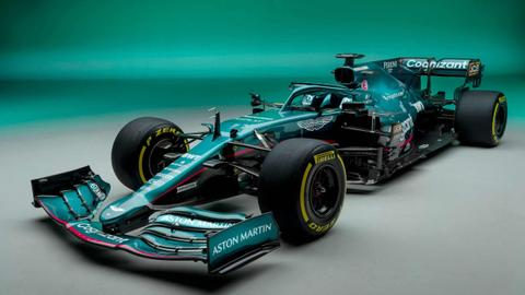 Aston Martin launches new car in return to F1 after 61 years