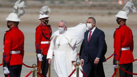 Pope Francis calls for end to violence on first-ever Iraq trip