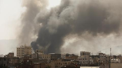 Saudi-led coalition strikes Houthi targets in Yemen's Sanaa