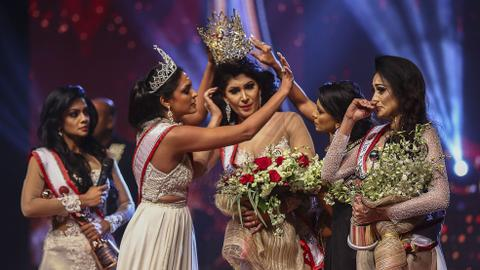 Sri Lankan police arrest 'Mrs World' after stage debacle